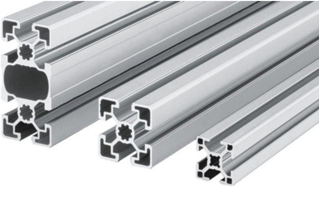 Aluminium Bosch Rexroth profiel systeem met verbindingen